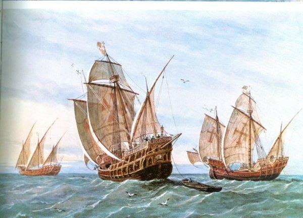 Francisco Pizarros Ship Spanish Caravels as us...
